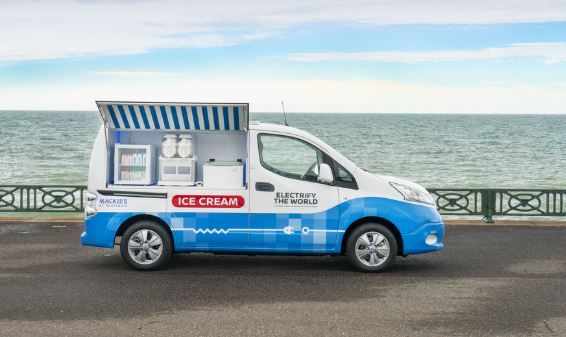 A UK first – a zero-emission ice cream van